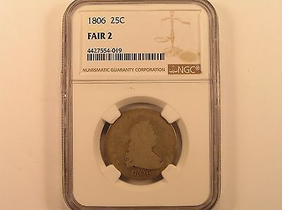 1806 25C Draped Bust Quarter NGC F2