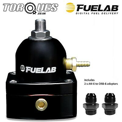 Fuelab Mini EFi Two Port Fuel Pressure Regulator AN-6 Black - 54501-1