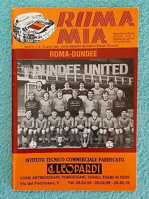 1984 - EUROPEAN CUP SEMI FINAL 2ND LEG PROGRAMME - ROMA v DUNDEE UNITED