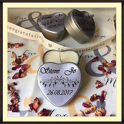 Personalised Scented Soy Candle Wedding Favours (10) – Multi Offer Available