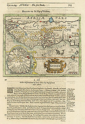 HJB-AntiqueMaps : 1625 Map of the West Coast of Africa by Hondius