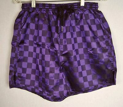VTG 80s 90s JC Penney Purple Check USA Olympics Track Athletic Shorts Sz M
