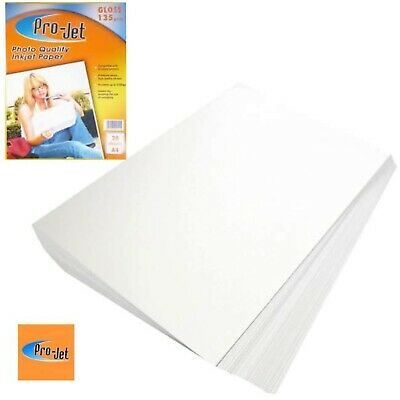 Pro-Jet Glossy A4 Inkjet Photo Paper 135gsm - 20 Sheets