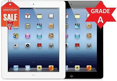 Apple iPad 4th 32GB Retina Display Wifi Tablet (Black or White) - GRADE A (R)