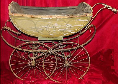 Antique Art Nouveau French Decree Brothers Baby Carriage