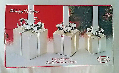 Holiday Collection by Godinger Silverplated Present Boxes Candle Holders - 3 Set