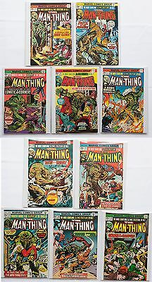 The Man-Thing Lot of 10 Marvel Comic Book 1975