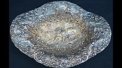 Antique Barbour S.p.co International Silver Co 3389 Repousse Bowl