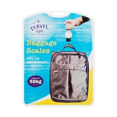 Luggage SCALES & Tape Measure Weigh Luggage Bags For Travel With Hanging Loop UK