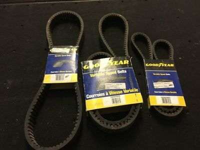 GoodYear Variable Speed Belt- Various Sizes Qty. 3