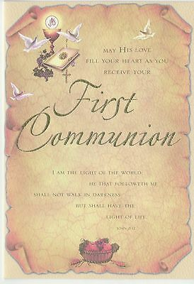 First Communion Card + Envelope from For Arts Sake
