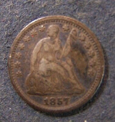 1857-D Seated Liberty Half Dime 5c Old US Coin No Reserve
