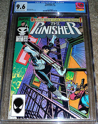 The Punisher #1 CGC 9.6 Marvel Comics 1987 NM+ Castle TV Series 1st Monthly Solo