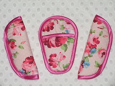 Maxi-Cosi Cabriofix/pebble/universal Chest/shoulder/Crotch Pads pink flowers