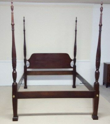 Councill Queen Bed Rice Carved Poster Mahogany