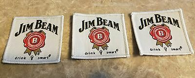 Jim Beam bourbon whiskey logo embroidered sticker cloth adhesive patch *Set of 3