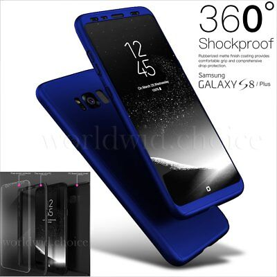 360° Full Body Shockproof Ultra-Thin Hard Back Case Cover For Samsung S8 S7 Edge