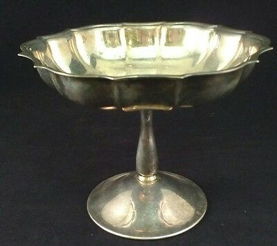Vintage Silver Plated Pedestal Compote Serving candy nut Dish unmarked