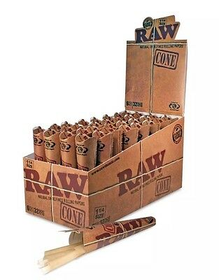 1 Case ( RAW Classic Pre-Rolled Cones 1 1/4 ( 6 Cones Per Pack (32 Packs Total )