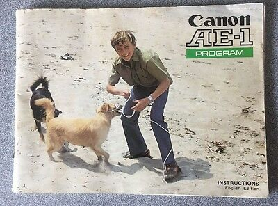 Vintage Canon AE-1 Instruction User Manual English Edition
