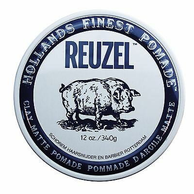 Reuzel CLAY MATTE Finish Pomade Strong Hold Hair Wax - 340g BIG