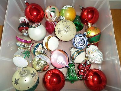 Lot 24 Vintage Christmas Ornaments  (#2)