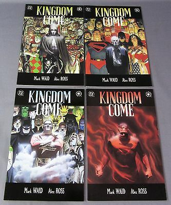 KINGDOM COME #1 2 3 4 (Full Run, First Print) Unread NM- Alex Ross DC Comic 1996