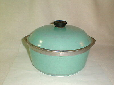 Club aluminum vintage turquoise round pot roaster w lid cookware retro
