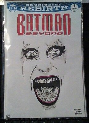 Batman Beyond Rebirth #1 Blank Variant Leto Joker Face Orig Art Look Rare Nm