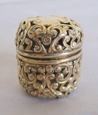 UNGER BROS. Sterling Gold Wash Open Work Sewing Thimble Holder