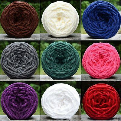 HOT! Soft Roving Bulky Chunky Super Thick Big Spinning Hand Knitting Ply Yarn GT