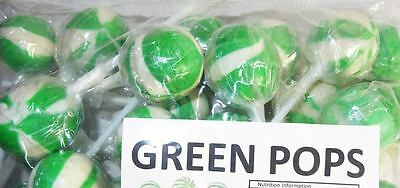 Ball Pops - Green LOLLYPOPS(1kg bag - approx 50pc)
