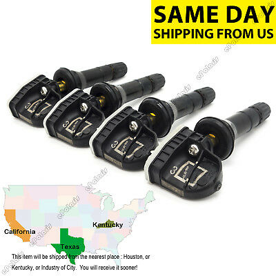 Set of 4 New TPMS Tire Pressure Monitoring Sensors for Chevy GMC GM OEM 13581558