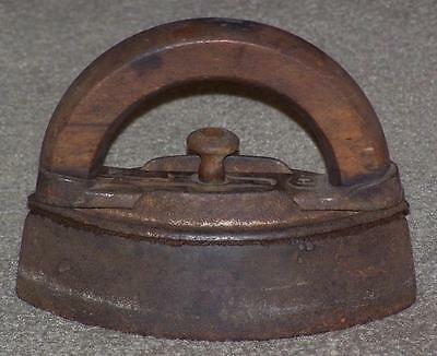 Antique Sad Iron With Detachable Wooden Handle