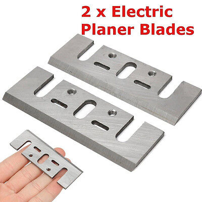 2pcs 82MM HSS Power Tool Part RE-SHARPENABLE PLANER BLADES FOR MAKITA N1900B ETC