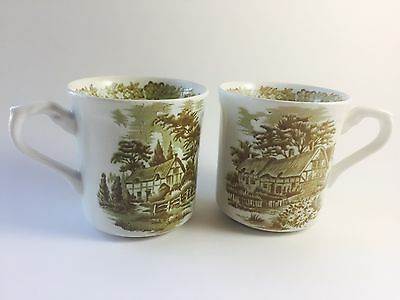 Pair of J and G Meakin Cups/Mugs Made in England no Saucer.