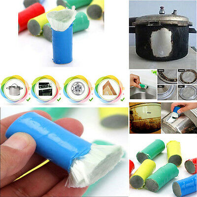 1PC Magic Stainless Steel Metal Rust Remover Cleaning Detergent Stick Wash Brush