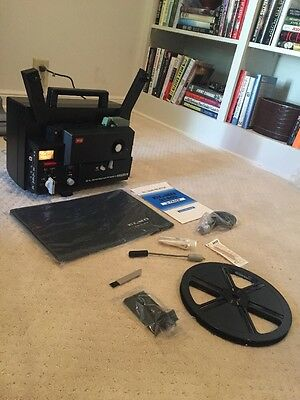 ELMO ST-600 2-TRACK  SOUND Super 8 movie Projector Not Fully Tested Sold As Is