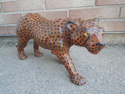 Leopard Leather Wrapped Statue Figurine