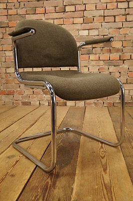 Mauser Steel Pipe Cantilever Lounge Armchair Mid Century Design Chair 60ER