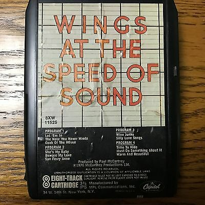 Wings At The Speed Of Sound 8 Track Tape Untested Condition Eight Paul Mccartney
