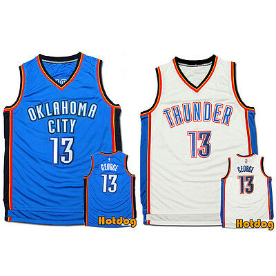 #13 Paul George Oklahoma City Thunder OKC NBA Jersey Adult Kid Youth Man Vest