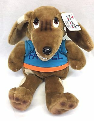 Russ Nestle Chocolate Farfel Dog Plush Puppet Jimmy Nelson Vintage 1992 w/ Tag