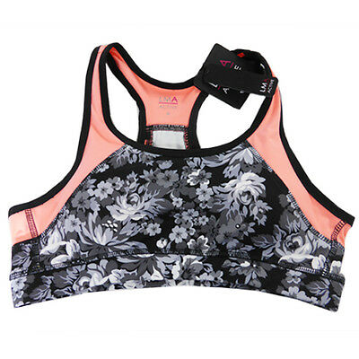 Womens Sports Crop Top - Floral - LMA Active Brand - NEW