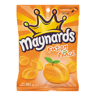 Maynards Fuzzy Peach Gummy Candy - 185g Bag FRESH Fr Canada 🇨🇦