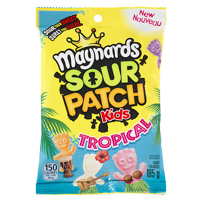 Maynards TROPICAL Sour Patch Kids - 185g Bag FRESH From Canada