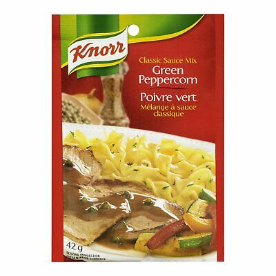 2 PACKAGES Knorr® Green Peppercorn Classic Sauce Mix 42x2=84g (2.96oz)  CANADA