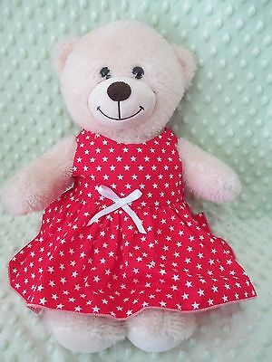 "DRESS  suitable Build a Bear  "" Red white Stars  """
