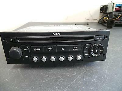 Peugeot 307 Radio/cd  Cd Stacker, 5 Disc In Dash, Blaupunkt, T6, 10/05