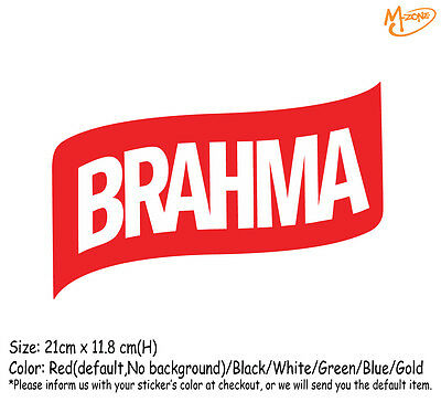 BRAHMA BEER LOGO Wall Stickers 21cm Reflective Decal Business Signs Best Gift
